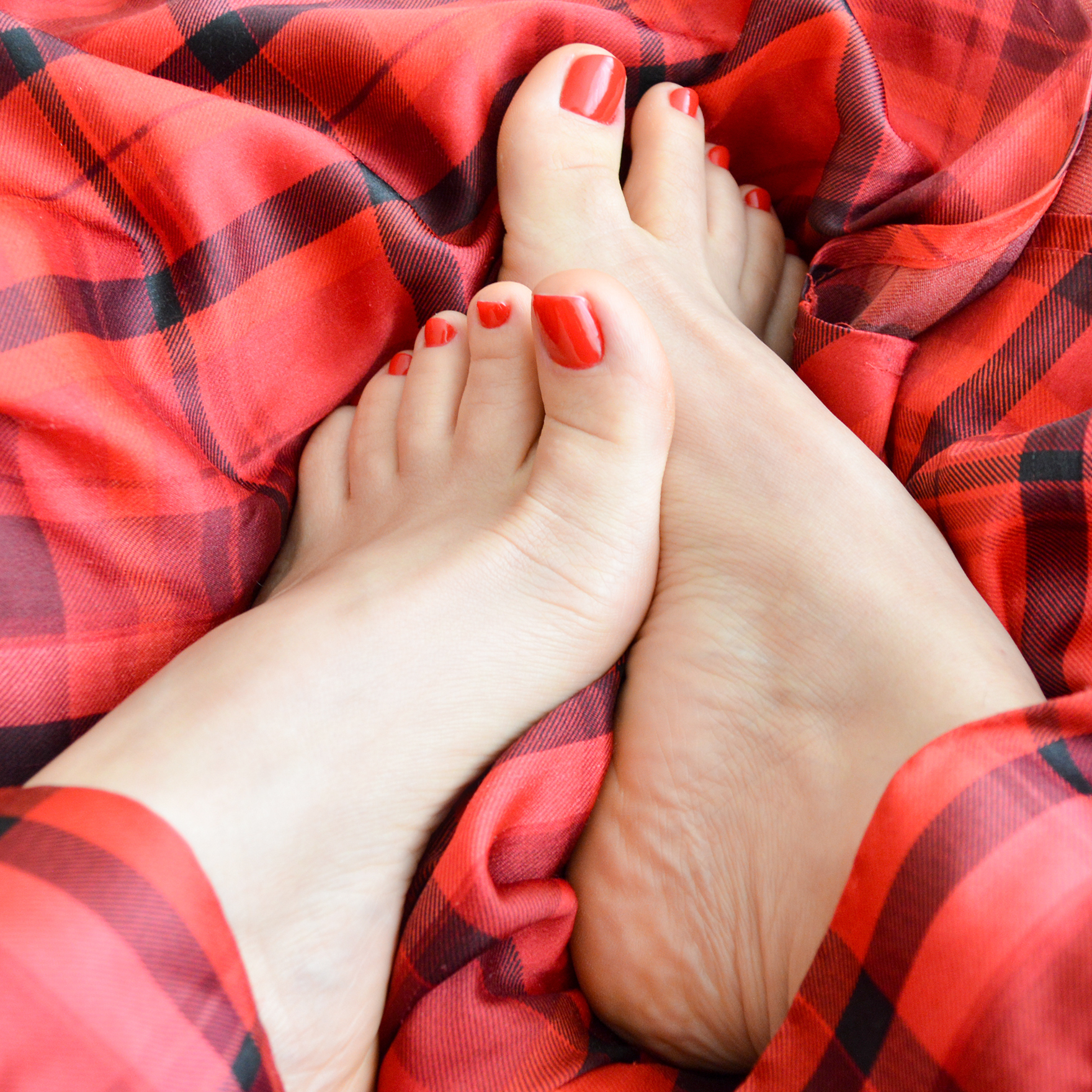 Foot Fetish Feet Red pedicure Toes
