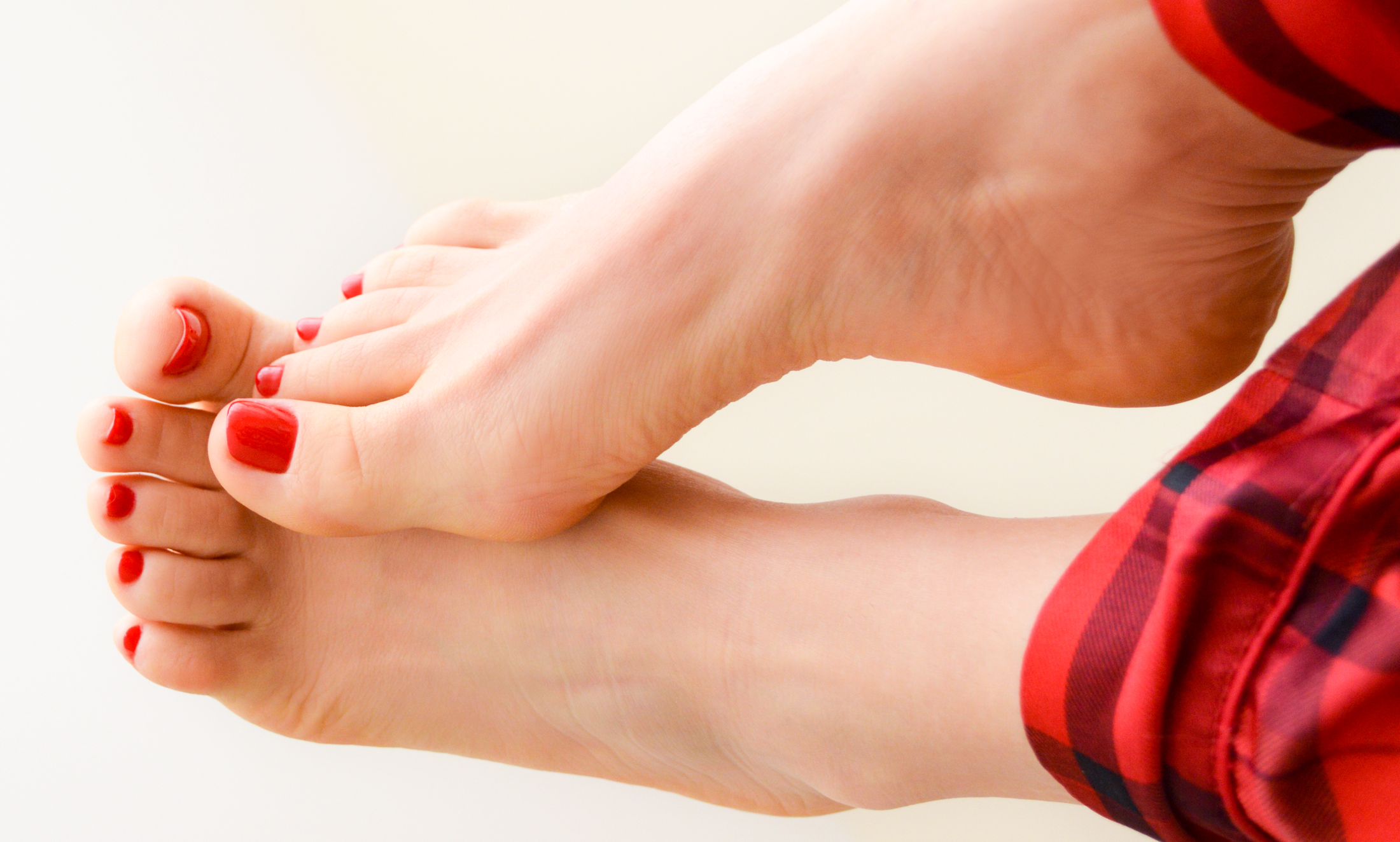 Foot Fetish Red Pedicure Feet Toes