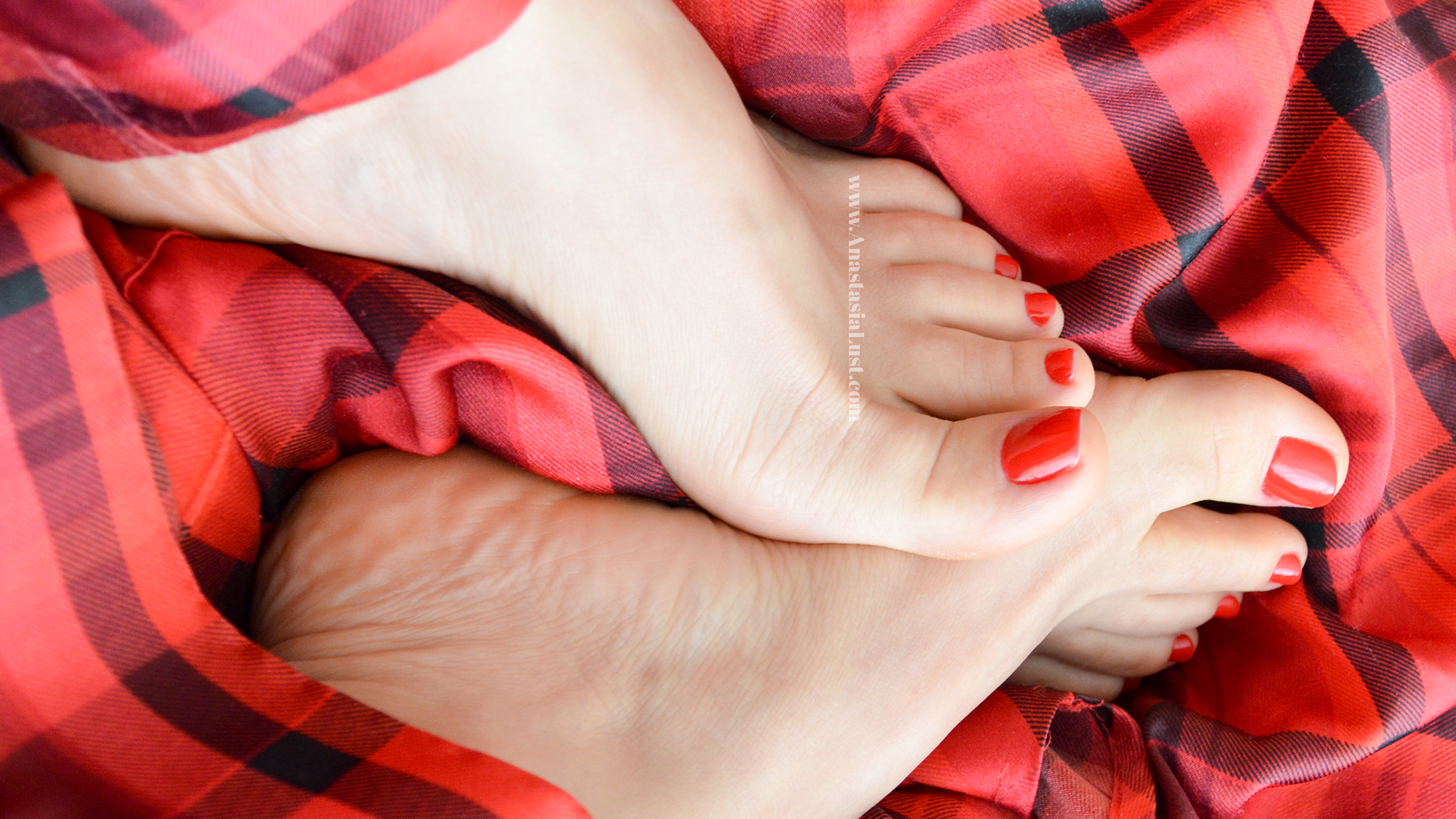 Foot Fetish Feet Red Pedicure Toes Soles